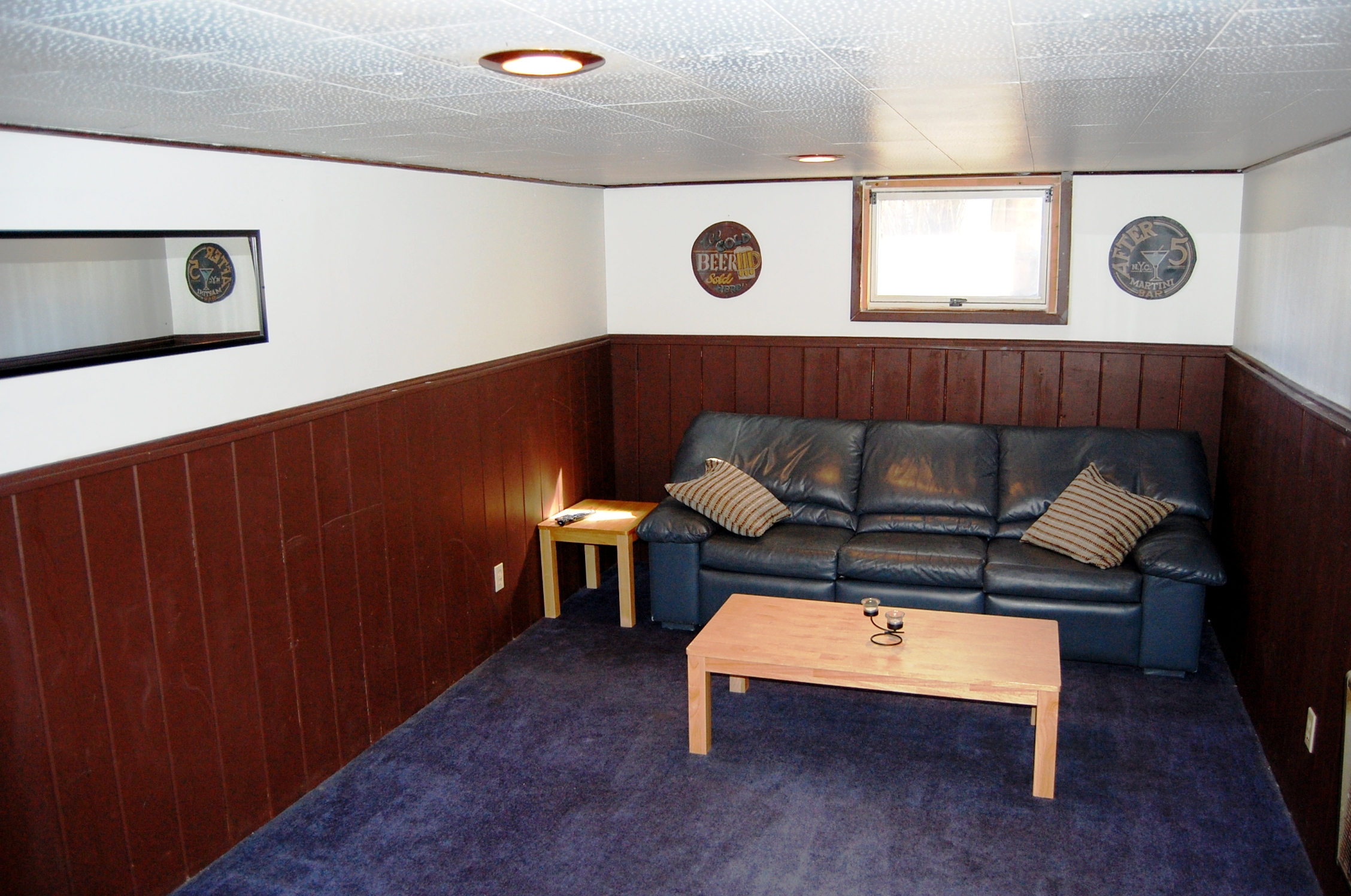 Basement Lounge Area